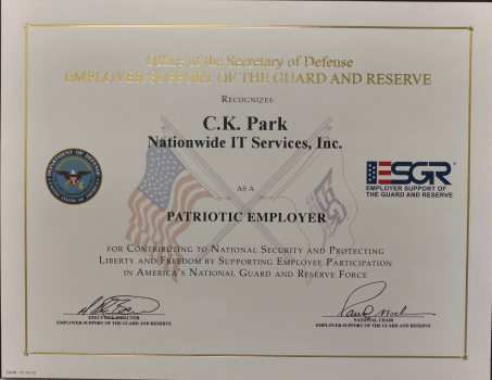 patriotic employer certificate NIS